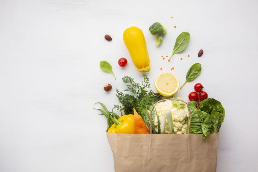flat-lay-of-bag-of-groceries